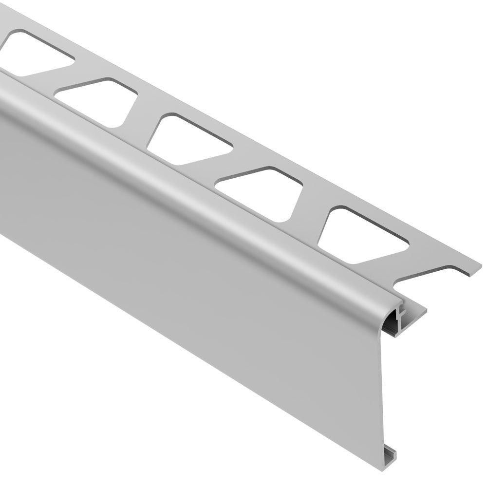Schluter Rondec-Step Satin Anodized Aluminum 3/8 in. x 8 ft. 2-1/2 in. Metal Tile Edging Trim