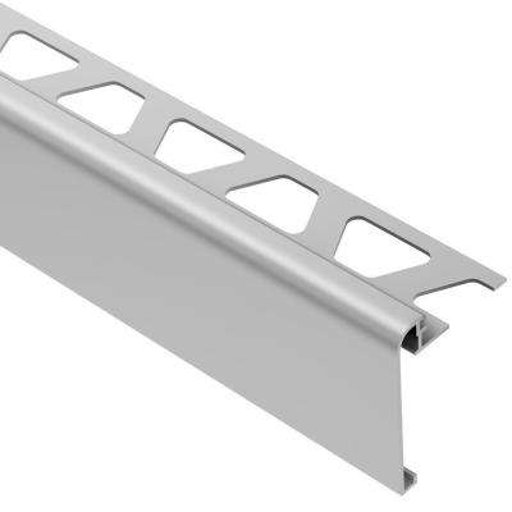 Rondec-Step Satin Anodized Aluminum 1/2 in. x 8 ft. 2-1/2 in. Metal Tile Edging Trim