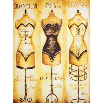 "31.5 in. x 23.5 in. ""Haute Couture Dress Forms "" Wall Art"