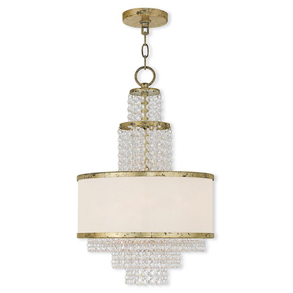 brighter homes lighting. Livex Lighting Prescott 3-Light Winter Gold Mini Chandelier With Off-White Sheer Organza Brighter Homes R