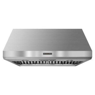 36 in. Wall Mount Range Hood with Light in Stainless Steel (Blower Sold Separately)