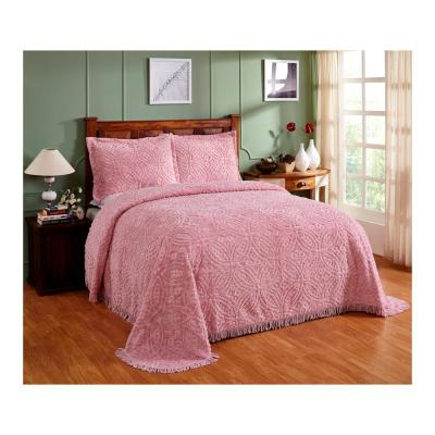 Wedding Ring 102 in. x 110 in. Pink Queen Bedspread