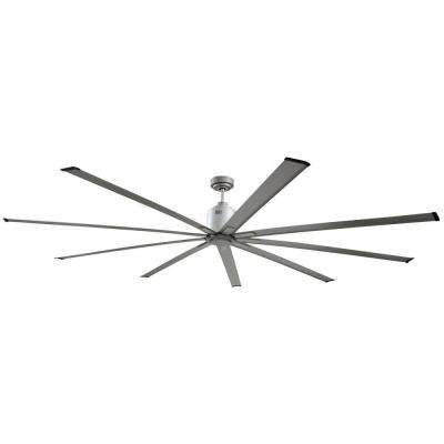 72 in. Indoor Metallic Nickel Industrial Ceiling Fan with Remote Control