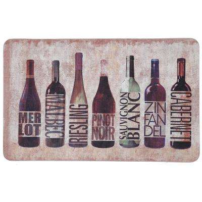 All Wined Up 18 in. x 30 in. Kitchen Mat