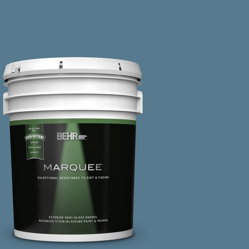 Behr Marquee 5 Gal S510 5 Skinny Jeans Semi Gloss Enamel Exterior Paint And Primer In One 545405 The Home Depot