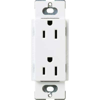 Claro 15 Amp Duplex Outlet, Snow