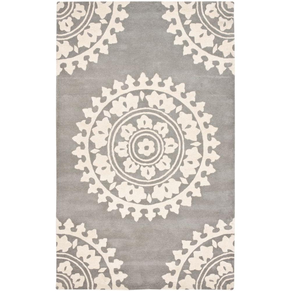 Safavieh Soho Light Grey/Ivory 3.5 ft. x 5.5 ft. Area Rug