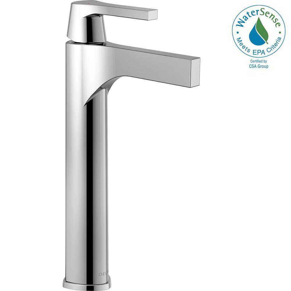 Zura Single Hole Single-Handle Vessel Bathroom Faucet in Chrome