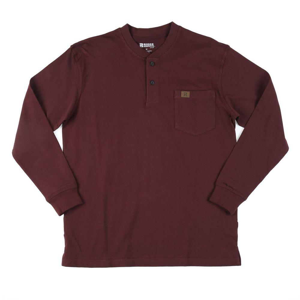 Large Men's Long Sleeve Henley