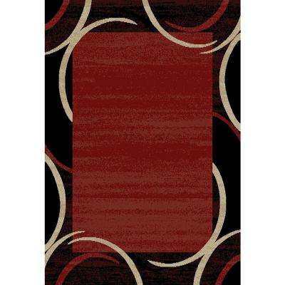 Pasha Collection Red 8 ft. x 10 ft. Area Rug