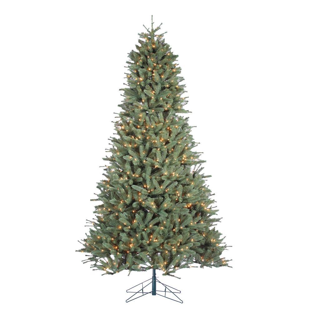 STERLING 9 ft. Indoor Pre-Lit Natural Cut Toledo Pine Artificial ...