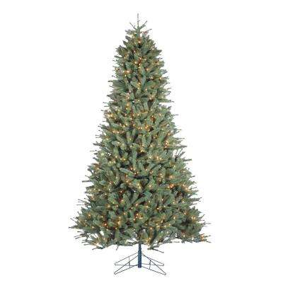 9 ft. Indoor Pre-Lit Natural Cut Toledo Pine Artificial Christmas Tree with 1000 Clear Lights and Power Pole