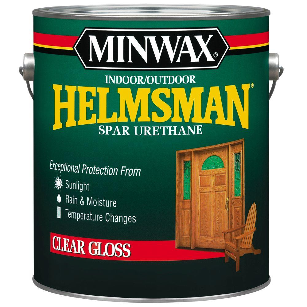 1 gal. Clear Gloss Helmsman Indoor/Outdoor Spar Urethane (2-Pack)