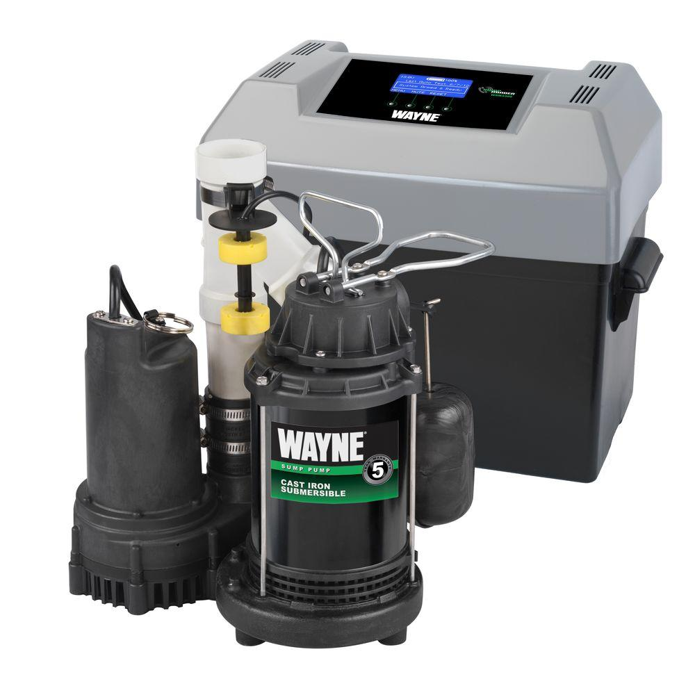 Best sump pump backup system - Wayne 1 2 Hp Primary Pump And Back Up System