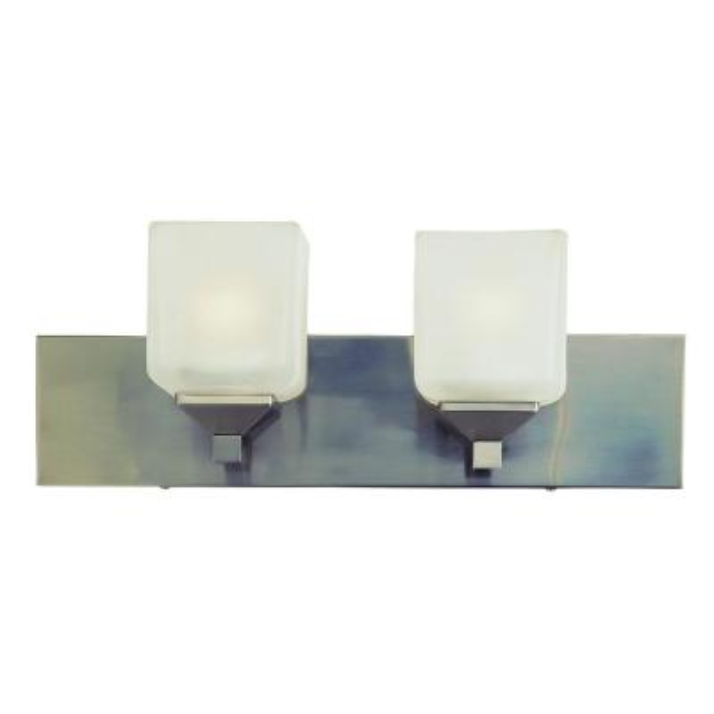 Edwards 2-Light Pewter Bath Light