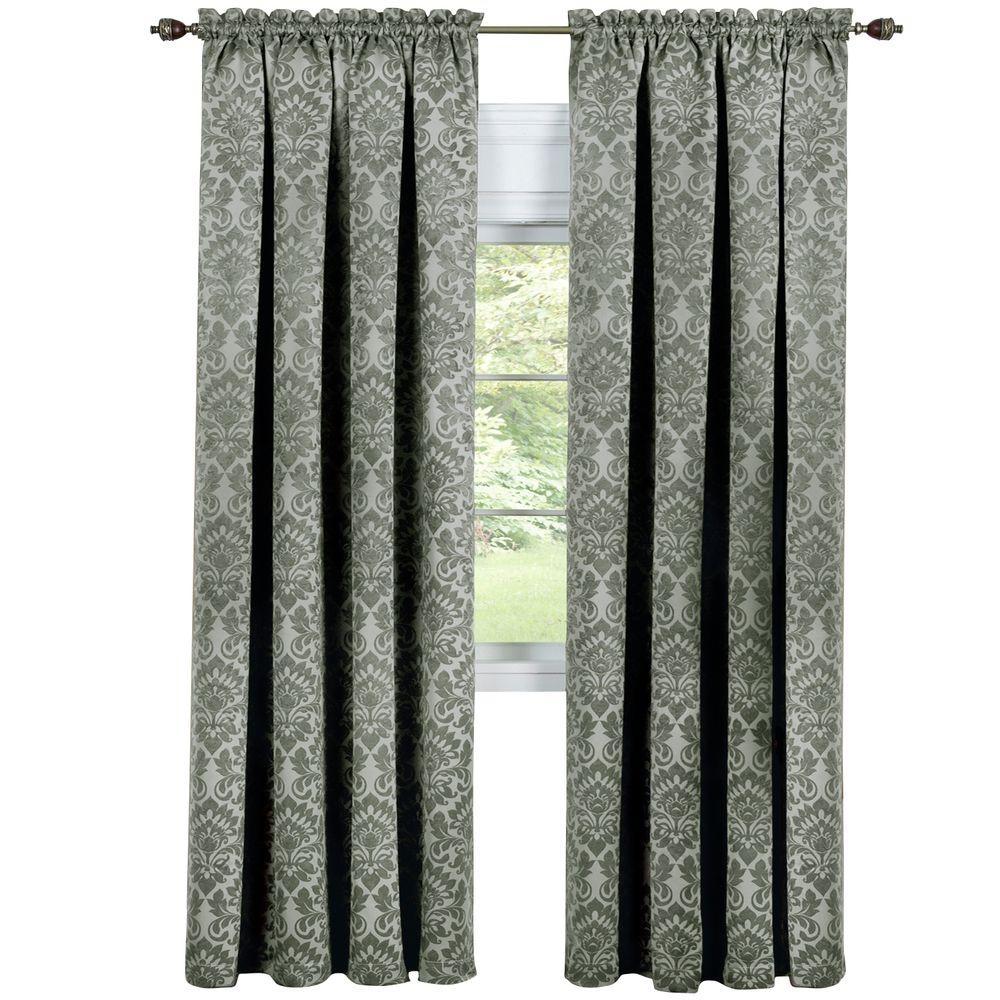 Achim Blackout Sutton Sage Polyester Blackout Curtain Panel 52 inch W x 63 inch L by Achim