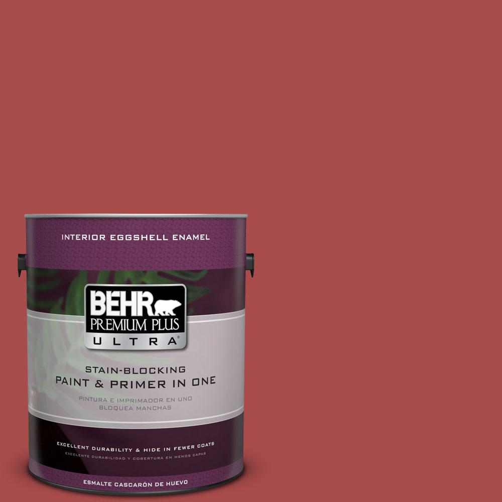 BEHR Premium Plus Ultra Home Decorators Collection 1-gal. #HDC-CL-09 Persimmon Red Eggshell Enamel Interior Paint