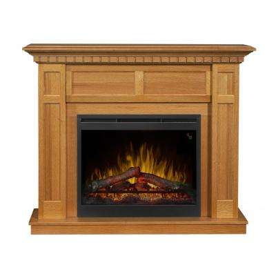 Wilson 50 in. Freestanding Electric Mantel in Rift Oak