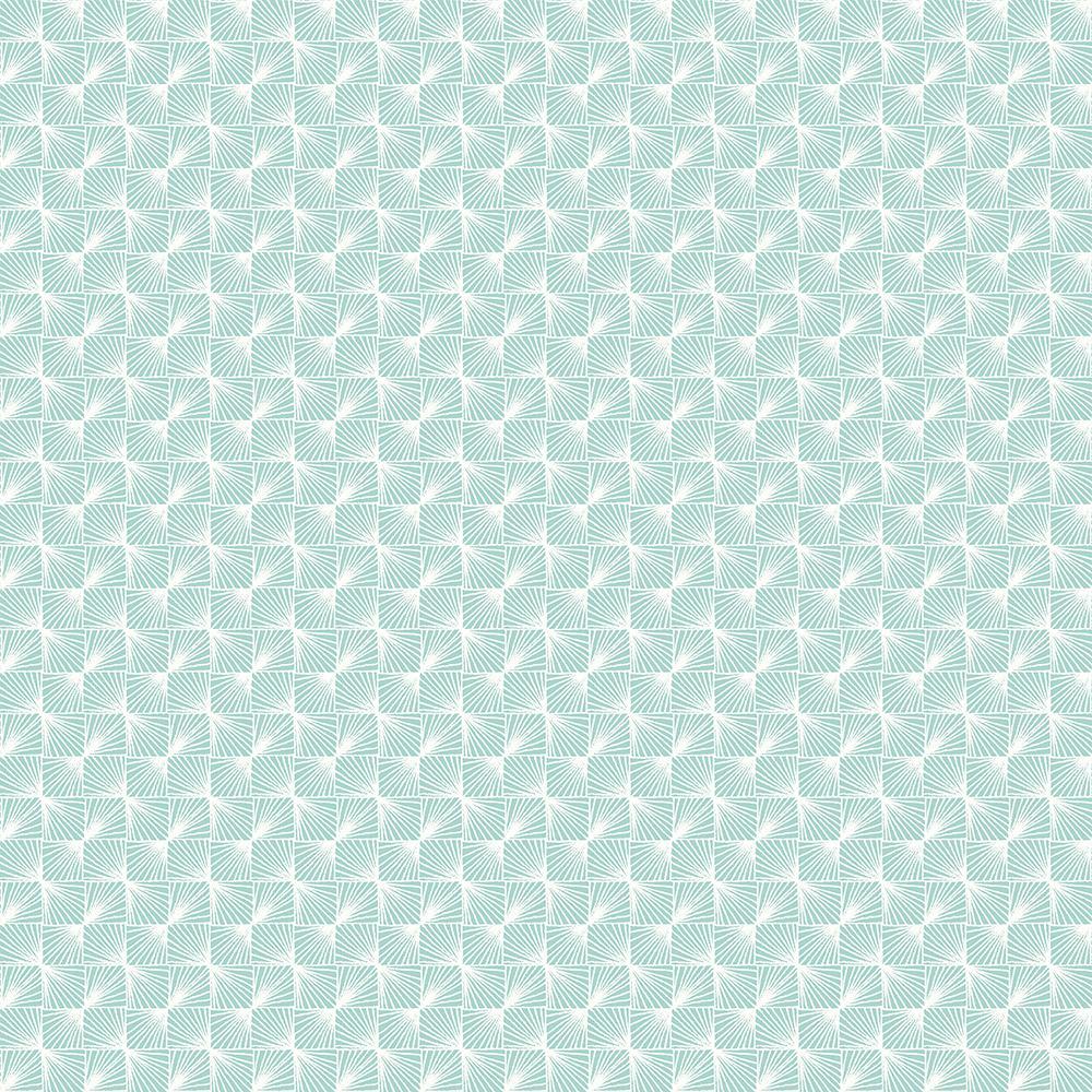 56.4 sq. ft. Stockholm Aqua Geometric Wallpaper