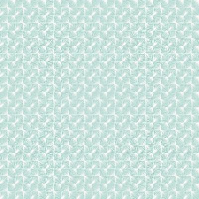 8 in. x 10 in. Stockholm Aqua Geometric Sample