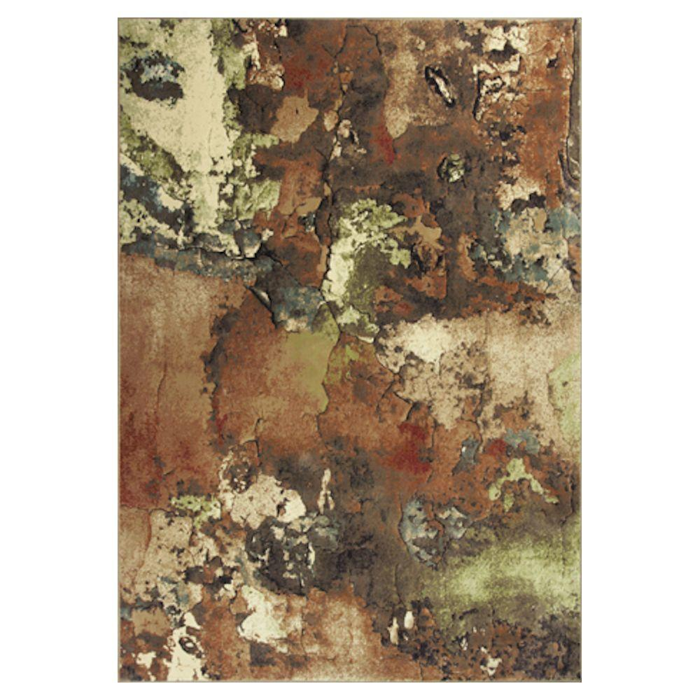 Abstract Art Beige/Ivory 7 ft. 10 in. x 11 ft. 2