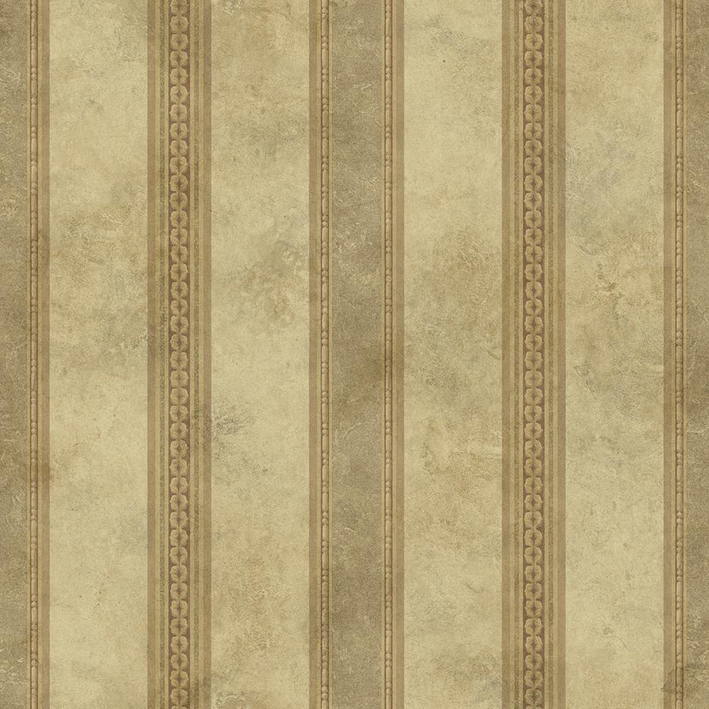 Tuscan Bronze Stripe Wallpaper