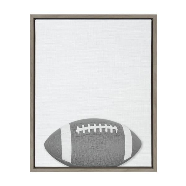 Sylvie ''Football Portrait'' Framed Canvas Wall Art