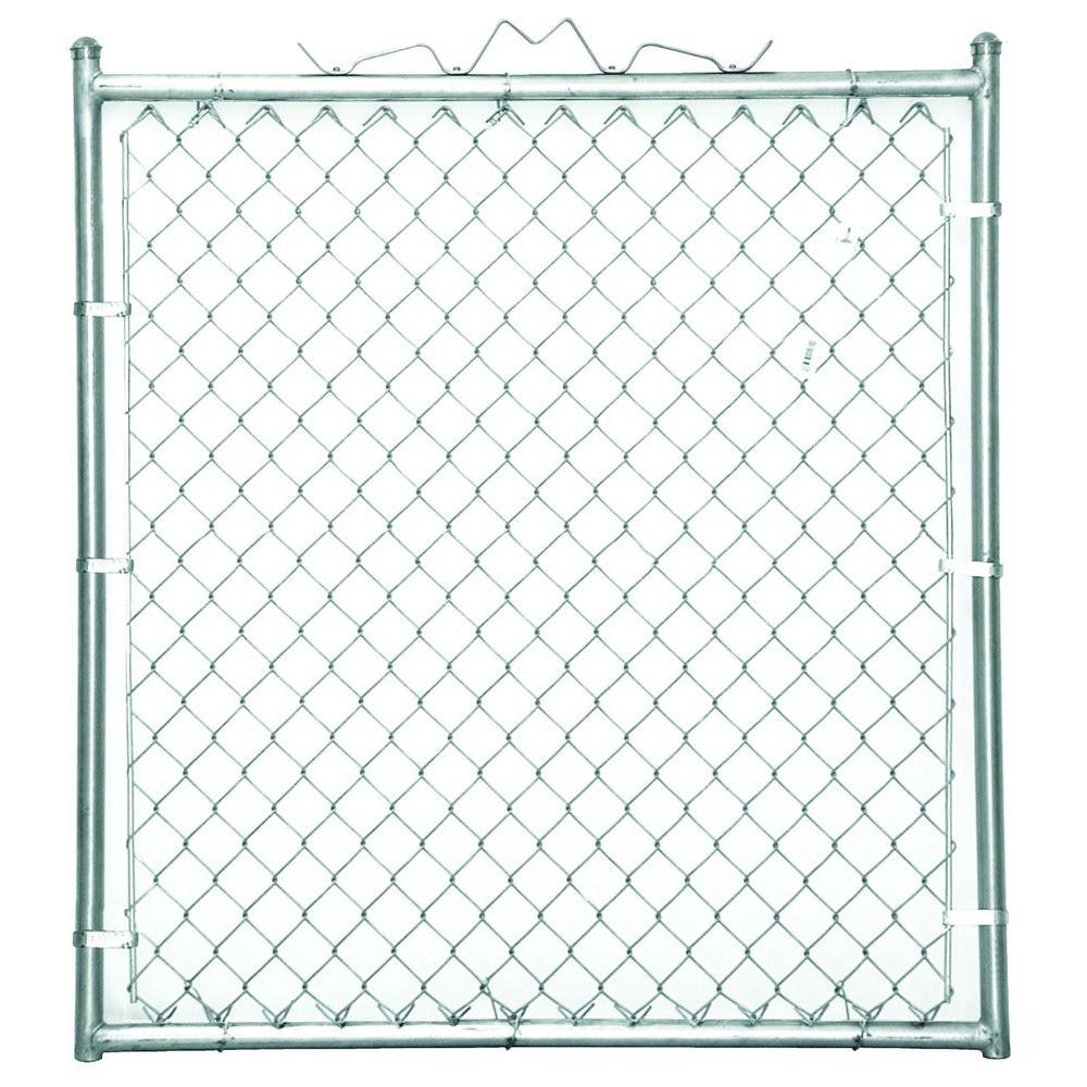 YARDGARD 48 in. W x 48 in. H Galvanized Steel Welded Walk-Through Chain Link Fence Gate
