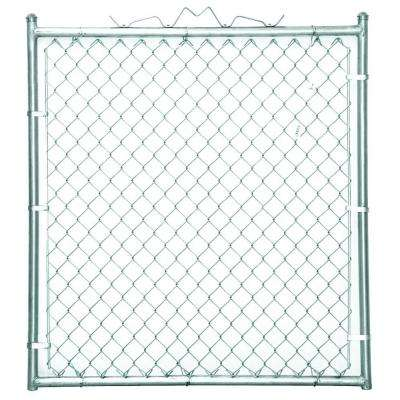 48 in. W x 48 in. H Galvanized Steel Welded Walk-Through Chain Link Fence Gate