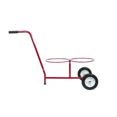 5 Gal. Dual Bucket Steel All-Purpose Cart in Red