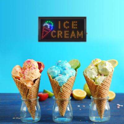 Neon LED Ice Cream Sign with Animation