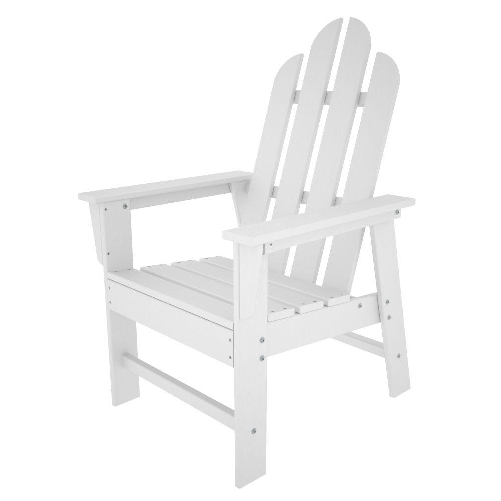 Patio Furniture In Long Island: POLYWOOD Long Island White Patio Dining Chair-ECD16WH