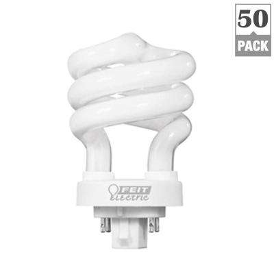60-Watt Equivalent Soft White Spiral 4-Pin CFL Light Bulb (50-Pack)