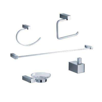Ottimo Brass 5-Piece Bathroom Accessory Set in Chrome