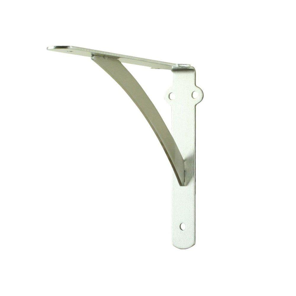 Everbilt 10 in. x 8 in. Satin Nickel Heavy Duty Shelf Bracket