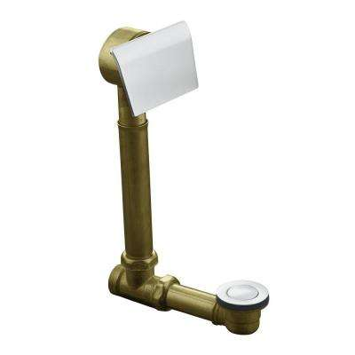 Clearflo 1-1/2 in. Brass Adjustable Pop-up Drain in Brushed Chrome