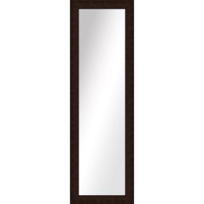 Large Rectangle Brown Art Deco Mirror (51.5 in. H x 15.5 in. W)