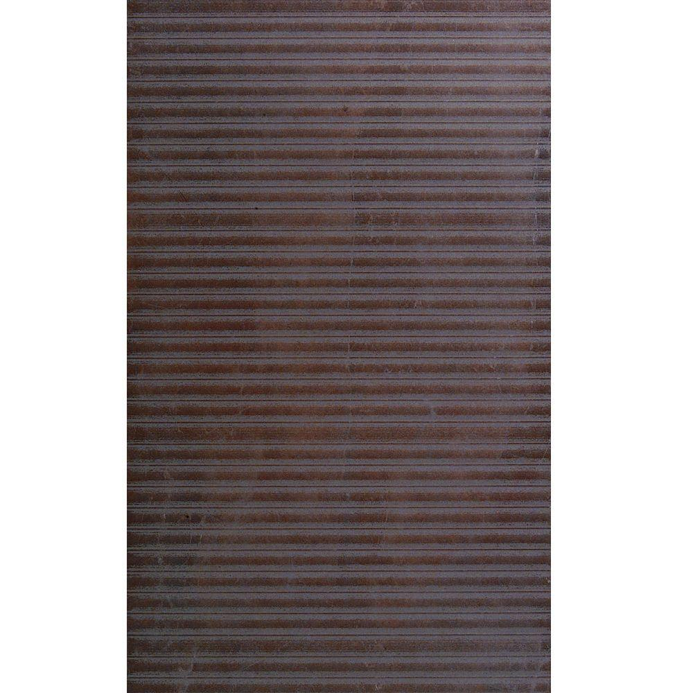 U.S. Ceramic Tile Avila Lines 12 in. x 24 in. Marron Porcelain Floor and Wall Tile (14.25 sq. ft./case)-DISCONTINUED