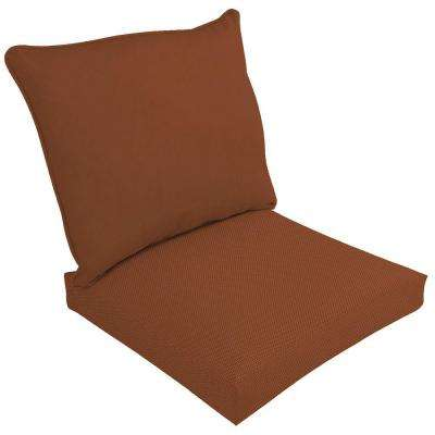Canvas Paprika 2-Piece Deep Seating Outdoor Dining Chair Cushion Set