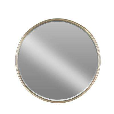 Round Champagne Coated Mirror
