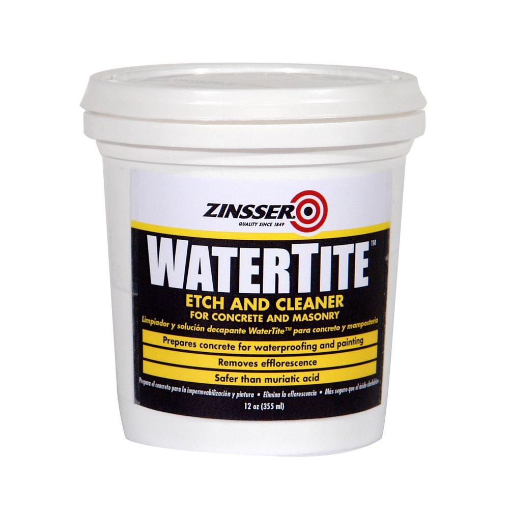 Zinsser 12 oz watertite etch and cleaner 6 pack 5082 for Cement cleaning solution