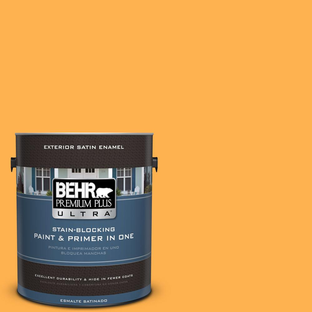 BEHR Premium Plus Ultra 1-gal. #P250-6 Splendor Gold Satin Enamel Exterior Paint
