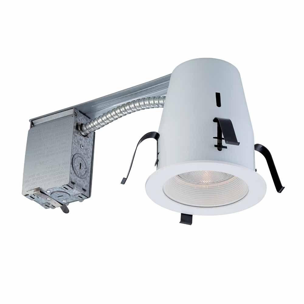Commercial Electric 4 in. White Non-IC Remodel Recessed Lighting Kit