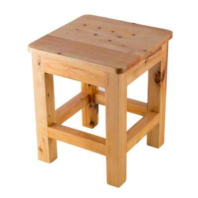 9.88 in. x 11.75 in. Vanity Stool in Wood