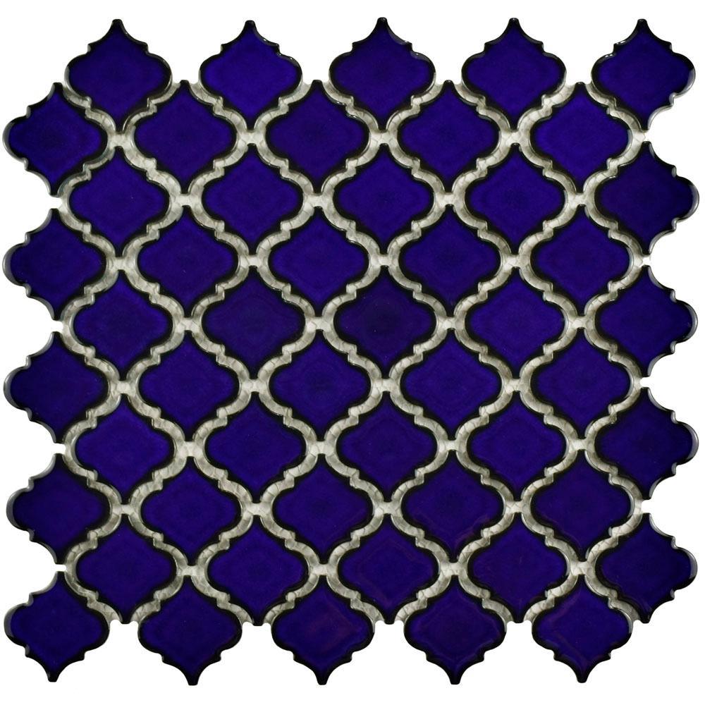 Hudson Tangier Blue Eye 12-3/8 in. x 12-1/2 in. x 5 mm Porcelain Mosaic Tile