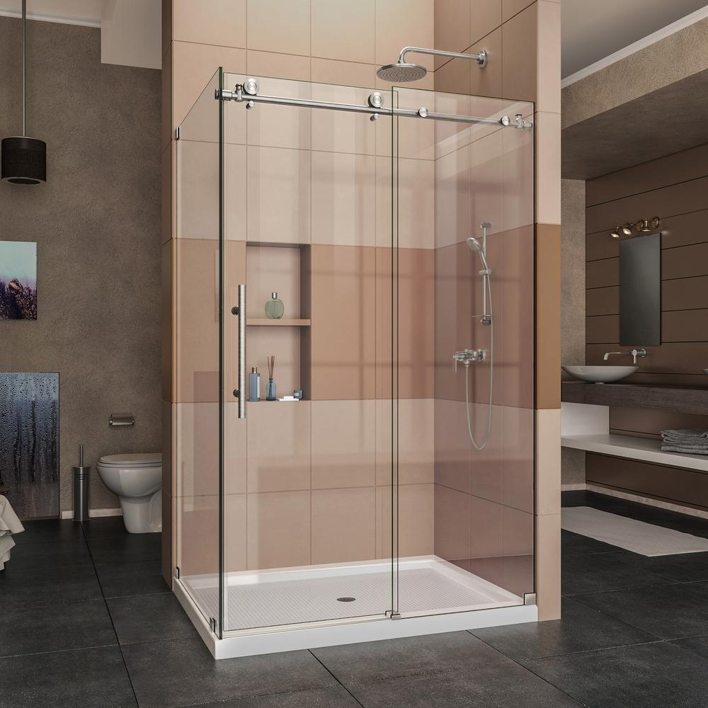small for door frameless frosted shower bathroom plus the suitable glass parts doors