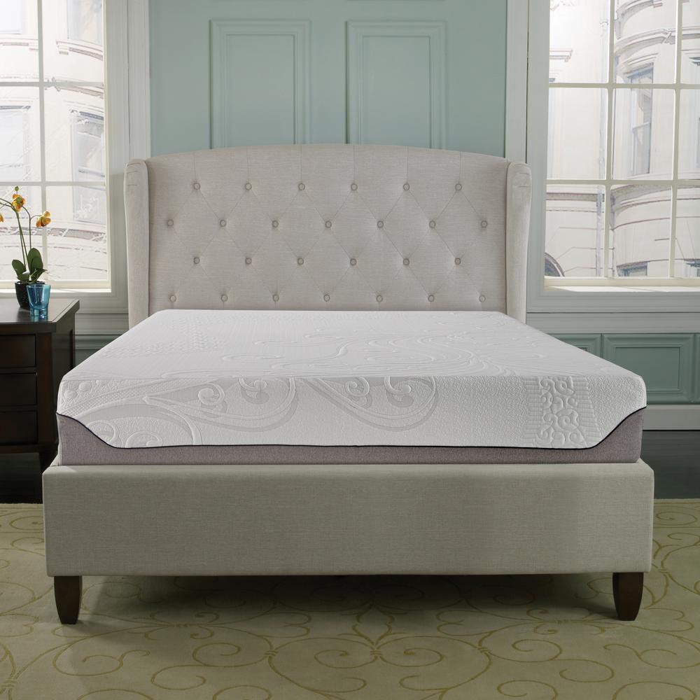 linenspa 6 in king innerspring mattress ls06kkgrsp the home depot