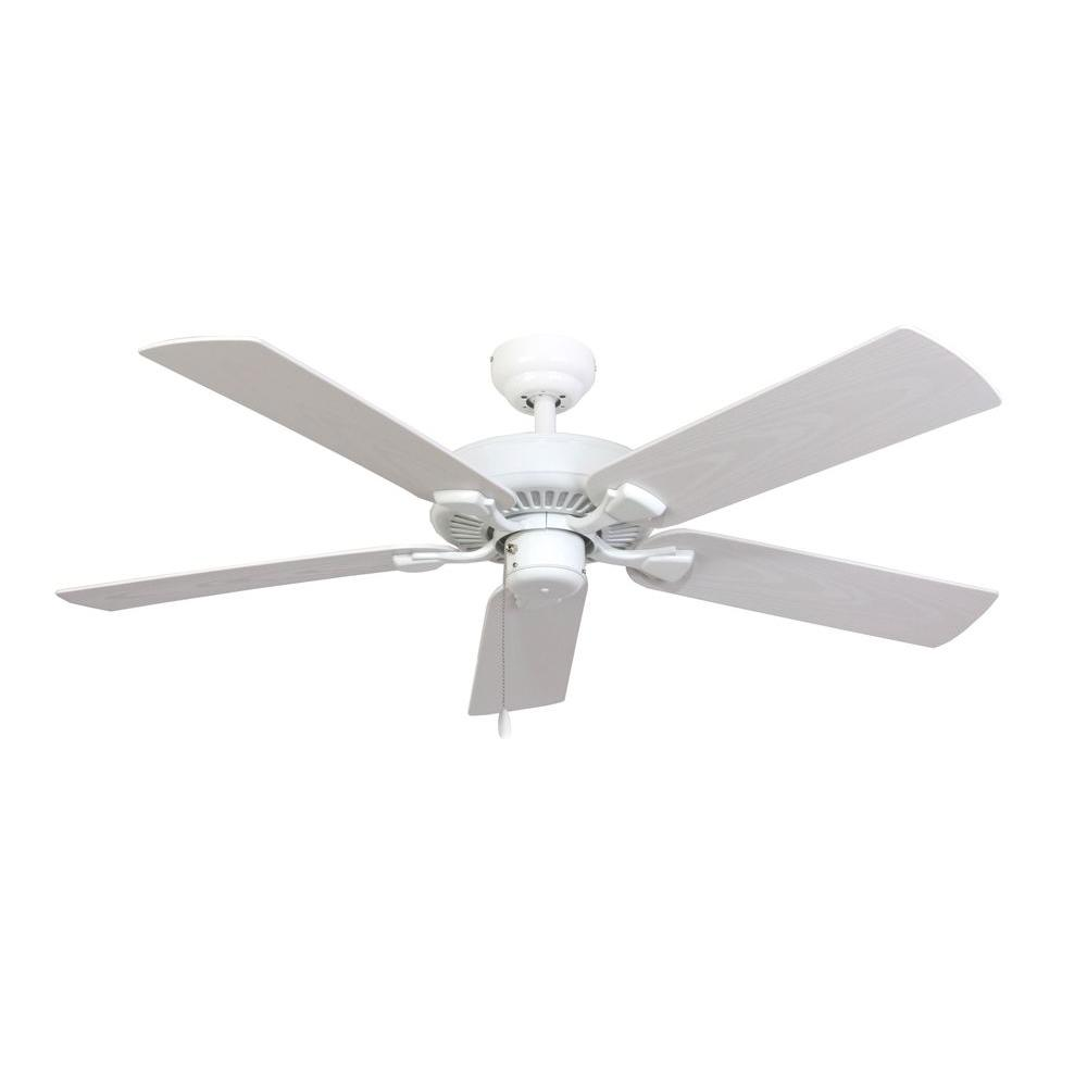 Sahara Fans Bluff Cove 52 in. Outdoor White Ceiling Fan