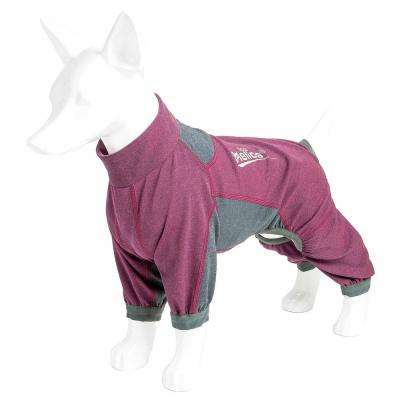 X-Small Pink Rufflex Breathable Full Bodied Performance Dog Warmup Track Suit