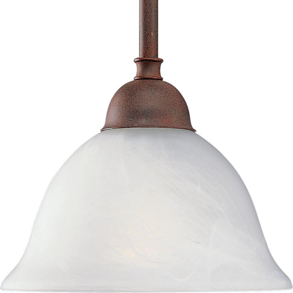 Progress Lighting Avalon Collection 1-Light Cobblestone Mini-Pendant-DISCONTINUED